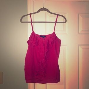 Size L Forever 21 Pink Ruffle Tank Top
